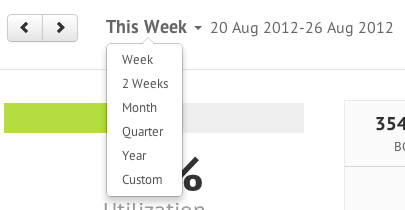 Report date range