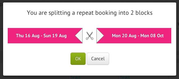 Split booking
