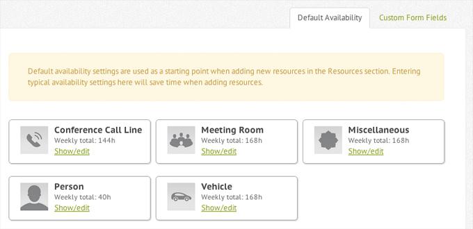 Default availability window