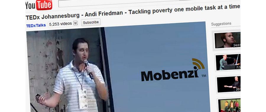 Andi Friedman speaking at TEDx - YouTube screencapture