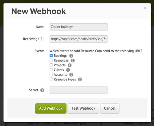 New Webhook