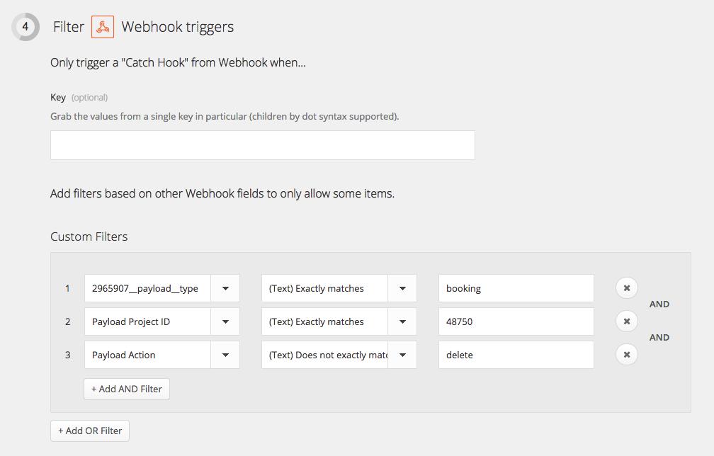 filter webhook triggers