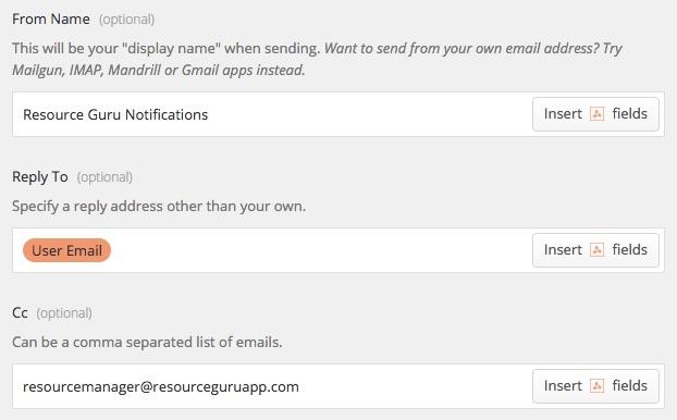 Zapier Email details