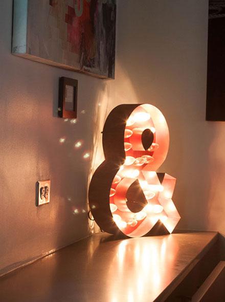 Decorative lighting at meditation event