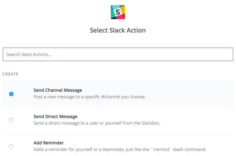 Setup Slack Action