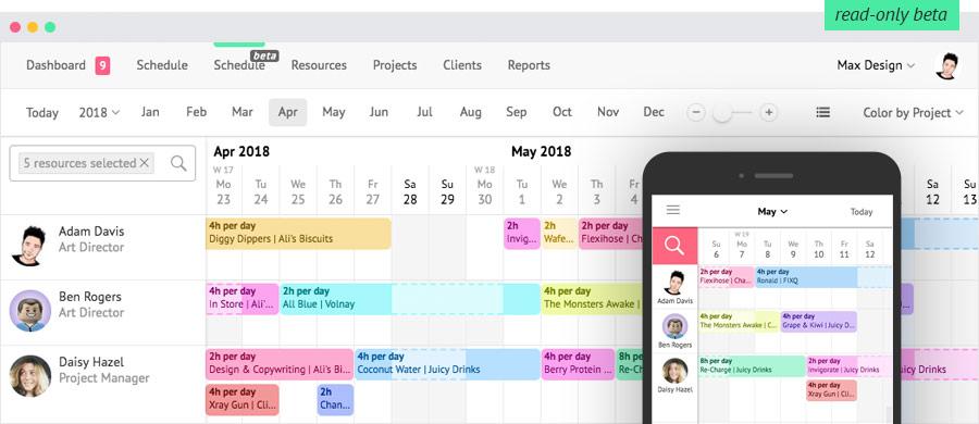 mobile friendly schedule beta