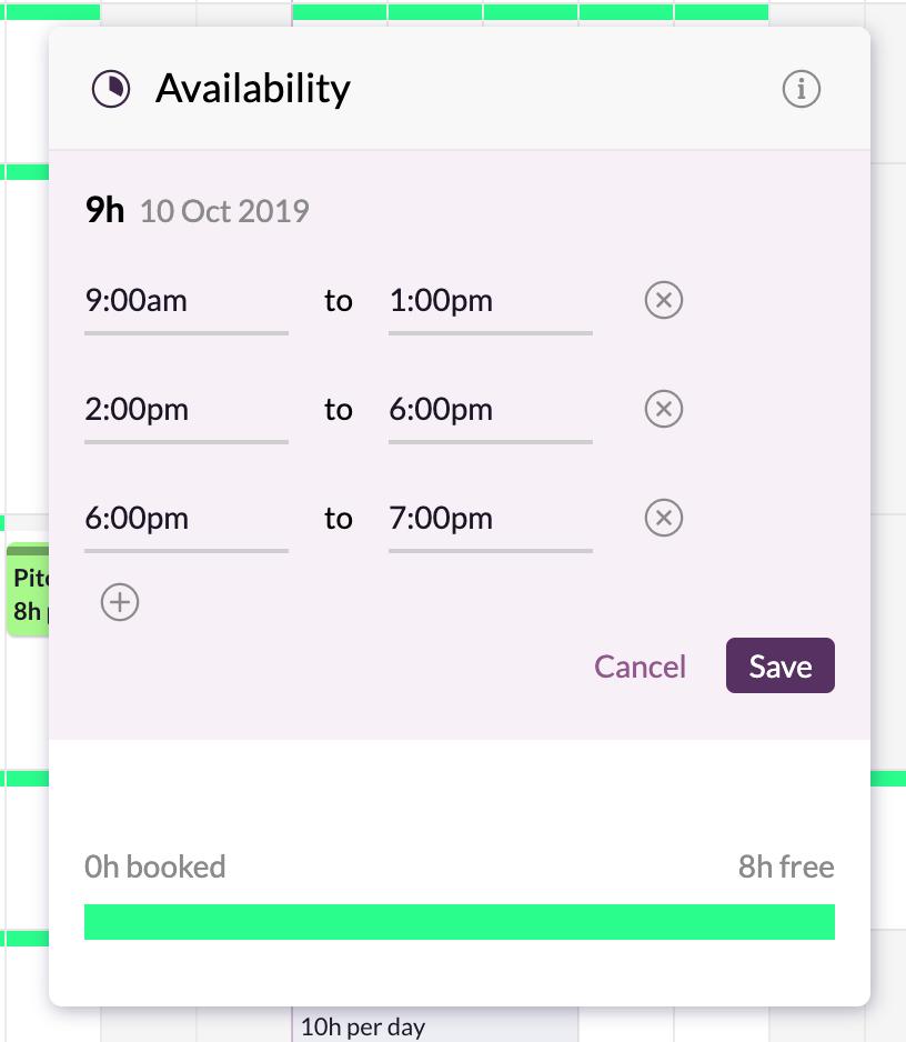 custom availability