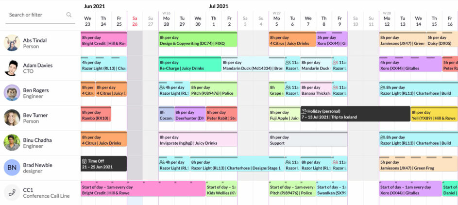 schedule-ungrouped