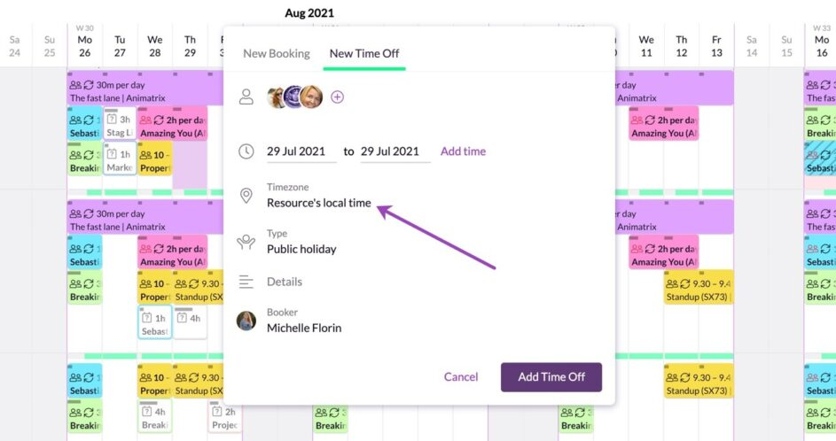 Making sure resources are scheduled correctly across time zones with Resource Guru
